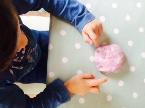 how to make lavender scented playdough